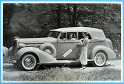 12 By 18 Black And White Picture 1936 Buick Convertible 4 Door Sedan Top Up