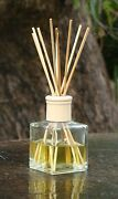 Juicy Watermelon Diffuser Rattan Aroma Reeds In A Square Glass Jar Air Freshener