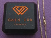 Pure 10k Yellow Gold 1.5mm Box Chain With Lobster Clasp Necklace Real 10kt Gold