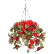 Oakridge Fully Assembled Artificial Mum Hanging Basket 10andrdquo Diameter With 18andrdquo