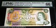 1979 Bank Of Canada 20 Replacement/ Star Pmg 66 Exceptional Paper Quality