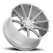 22 Blaque Diamond Bd11 Silver Concave Wheels Rims Fits Cadillac Cts V Coupe
