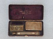Known The World Over Gillette Safety Razor In Original Metal Box Made In Usa