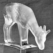 Lalique Wonderful Fawn Frosted Clear Crystal Made In France 3.25- Luxury 11804