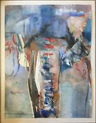 Mary Heebner 1986 Mixed Media On Paper Memory Contained 54 X 42