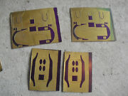 Lot Of 4 Vintage Ho O Scale Brass Sheets With Train Car Ends Look