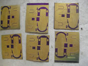 Lot Of 6 Vintage Ho O Scale Brass Sheets With Train Car Ends Look
