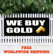 Banner Vinyl We Buy Gold Advertising Sign Flag Pawn Shop Coins Jewelry Silver