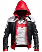 Batman Arkham Knight Game Red Hood Leather Jacket And Vest Costume -bnwt