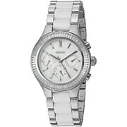 Dkny Women's Ny2497 Chambers Multifunction Crystal Stainless Steel Ceramic Watch