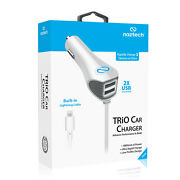 Naztech For Applethree Output 3.1 Lightning Connector Car Charger Iphone 5, 6,6s