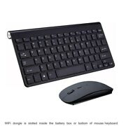 Wireless Mini Mouse And Keyboard For Lg 42ln575v-ze Smart Tv Bk Us
