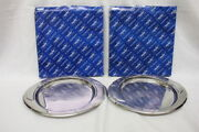 New Vintage Pair Of 2 Zepter Stainless Steel 18/10 11 Oval Serving Trays Italy