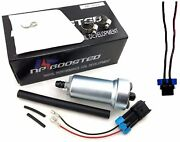 Npboosted 400lph Intank Fuel Pump Kit And Wire Harness / Filter / Hose / Clamps