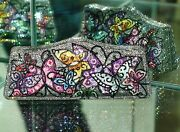 Judith Leiber Crystal Sparkly Butterfly Curved Purse Minaudiere Clutch