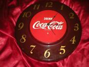 Hard To Find 50's Drink Coca Cola Round Clock Updated To Battery Operated Works