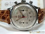 Serviced Vintage Enicar Chronograph Pilots Watch Valjoux 92 Pre Sherpa 1970and039s