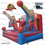 13x10ft Inflatable Basketball Hoop Carnival Sport Game Play With Air Blower
