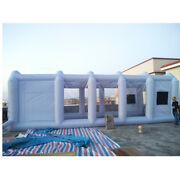 33x16x11ft Inflatable Spray Mobile Custom Tent For Car Paint Booth Kit+air Fan