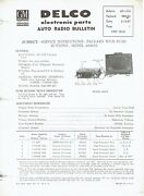 Gm Delco 1957 Packard Push Button Radio 484652 Service And Parts Bulletin