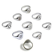 New Engraved Signet Rings 925 Solid Sterling Silver 14x12mm Oval Uk Hallmarked