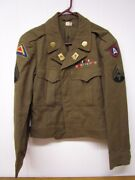 Wwii 346th Engineer Regiment Ike Jacket / Bullion Theater Made Insignia