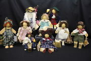 Vintage Lot Of 12 Lizzie High Wooden Dolls And Accessories W/tags Ladie And Friends
