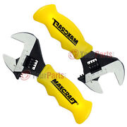 2 Pack Maxcraft 60701 Stubby Adjustable Wrench 1 Jaw Professional Comfort Grip