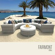 Tk Classicss Fairmont 6-piece Patio Wicker Sectional Set 06c In White