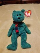 Rare With 4 Errors Vintage 1999 Ty Beanie Babies Wallace Stuffed Toy Plush Bear