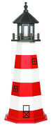 Amish Hand Crafted Wood Garden Lighthouse - Assateague Model - Lighting Options