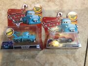 Disney Pixar Cars Tokyo Mater And Dragon Mcqueen With Oil Stains