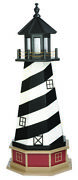 Amish Crafted Wood Garden Lighthouse - Cape Hatteras Model - Lighting Options