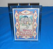 Mary Engelbreit Thereand039s No Place Like Home Plastic Musical Picture Frame Rare