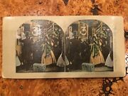 Vintage Stereo View Card. Comic/children Series. Double Sided. Farmhouse