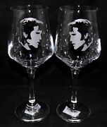 New Etched Elvis Presley Wine Glass - Free Gift Box - Large 390mls Glass