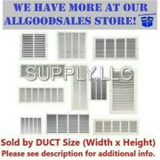 Air Return Vent Cover Grille Steel Wall Sidewall Ceiling White - Many Duct Sizes