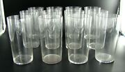 Signed Set Of Twelve Art Deco French Baccarat Highball Crystal Glasses Ca 1930