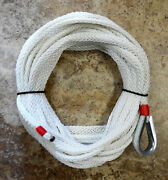 50 Ft X 3/8 Hollow Braid Anchor Line. Stays Supple For Small Craft. Made Usa