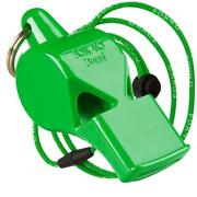 Neon Green Fox 40 Pearl Whistle Official Coach Safety Alert Rescue Free Lanyard