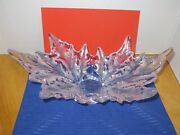 Lalique Crystal Centerpiece Bowl Champs Elysees 18 X 10andrdquo X 7andrdquo