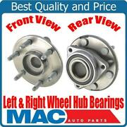 2 100 New Front Or Rear Hub And Wheel Bearing Assembly For 07-16 Gmc Arcadia