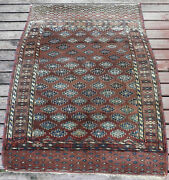 Superb Antique Hand Knotted Yomud Rug Turkoman West Turkestan Circa 1870and039s