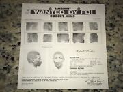 Robert Nudie Mims Black Panther Party/blk Mafia Fbi Wanted Poster Pls Offer
