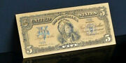 ✓☆ Amazing ☆✓《1899 Silver Certificate》 Indian Chief 5 Rep.gold Banknote - ☆✓