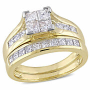Amour Signature Collection 14k Gold 2ct Tdw Diamond Bridal Ring Set