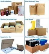 Single Wall Cardboard Postal Mailing Boxes And Royal Mail Large Letter Parcels