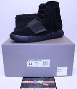 Adidas Yeezy Boost 750 Triple Black Kanye West Sneakers Menand039s Size 11 Bb1839 New