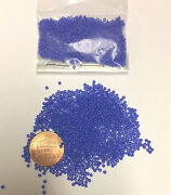 Vintage Micro Seed Beads Opaque Medium Blue- 5.9g Bags-14/0-25 Beads Per Inch