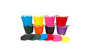 Messy Play Colourful 26l Flexi With Coloured Lid Toys Games Art And Craft Kid